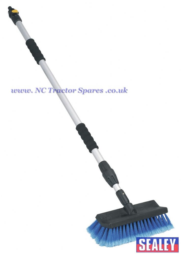 Large Angled Flo-Thru Brush with 1.7mtr Telescopic Handle